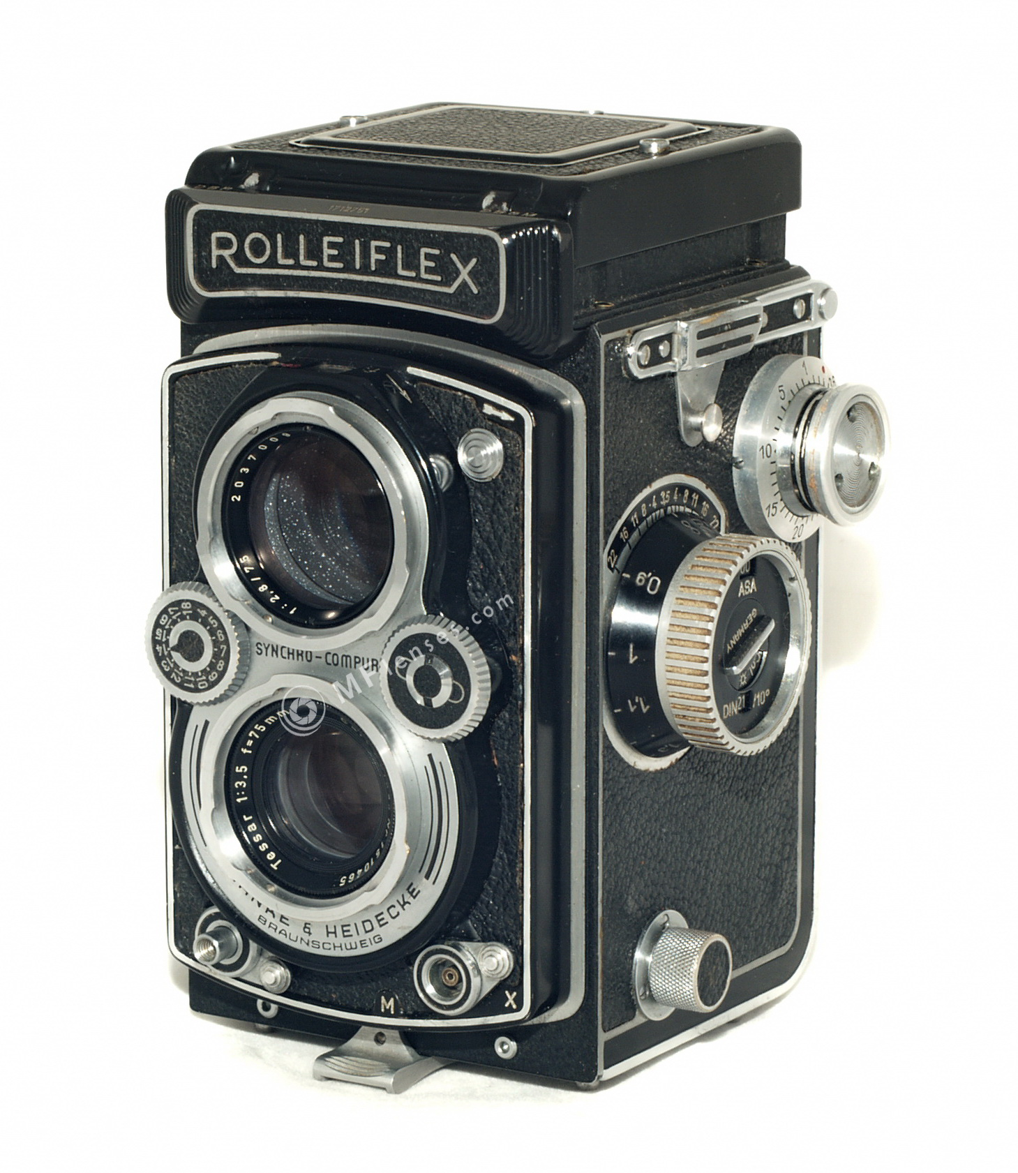 rolleiflex carl zeiss tessar 75mm f3 5 made in w germany. Black Bedroom Furniture Sets. Home Design Ideas